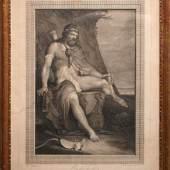 Losnummer: 2232 Artikelnummer: 101561  Spinarosa, Francesco 1762 - 1841  Philoktet, nach einem Gemälde von James Barry. Radierung, rechts unten in der Platte sign. und dat. 1785, blattvergoldeter Rahmen, wohl aus der Zeit. Blattgröße 55x42cm.  Ausrufpreis: € 200,-