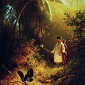 CARL SPITZWEG 1808–1885 Der Schmetterlingsfänger | um 1840 The Butterfly Hunter |c. 1840 Öl auf Holz | Oil on wood 31 x 25 cm Museum Wiesbaden, Dauerleihgabe der Bundesrepublik Deutschland | permanent loan of the Federal Republic of Germany Foto | Photo: Museum Wiesbaden