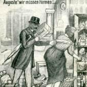 Spottkarte auf die Flucht Wilhelms II., 1918 © Slg. Kirschstein