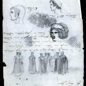 Zeichnung  Friedrich Wilhelm IV. © SPSG