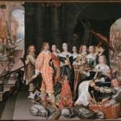 Matthias Czwiczek: Verherrlichung der Kurfürstenwitwe Elisabeth Charlotte; Gemälde, um Foto: Jörg P. Anders ©  Eigentum des Hauses Hohenzollern
