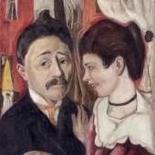 Max Beckmann (1884–1950)  Bildnis Ehepaar Carl, 1918 65,5 x 55,0 x 2,5 cm Öl auf Leinwand Dauerleihgabe aus Privatbesitz Foto: Städel Museum