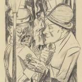 Max Beckmann (1884–1950)  Der Nachhauseweg, aus: Die Hölle, 1919 Lithografie 733 × 488 mm Städel Museum, Frankfurt am Main Foto: Städel Museum