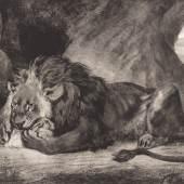 Eugène Delacroix (1798–1863) Lion de l'Atlas, 1829 Lithografie, 33,1 x 46,6 cm Städel Museum, Frankfurt am Main Foto: Städel Museum