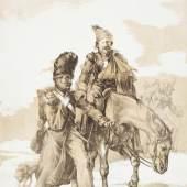 Théodore Géricault (1791–1824) Retour de Russie, 1818 Lithografie, Tonplatte in hellem Braun, 44,4 x 36,2 cm Städel Museum, Frankfurt am Main Foto: Städel Museum – ARTOTHEK