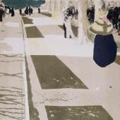 """Édouard Vuillard (1868–1940) L'Avenue (Blatt 2 der Folge """"Paysages et intérieurs""""), 1899 Lithografie in sechs Farben (2. Zustand), 31 x 41 cm (Darstellung) Städel Museum, Frankfurt am Main Foto: Städel Museum – ARTOTHEK"""