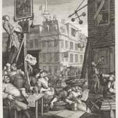 William Hogarth (1697-1764)  Bierstraße, 1751 Radierung und Kupferstich, 39,2 x 32,6 cm Städel Museum, Frankfurt am Main Foto: Städel Museum – ARTHOTHEK