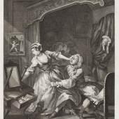 William Hogarth (1697-1764)  Vorher, 1736 Radierung und Kupferstich, 43 x 33,1 cm Städel Museum, Frankfurt am Main Foto: Städel Museum – ARTHOTHEK