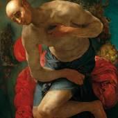 Jacopo Pontormo (1494–1557) Der Hl. Hieronymus als Büßer, um 1528/29 Öl auf Pappelholz, 105 x 80 cm Niedersächsisches Landesmuseum Hannover Foto: Niedersächsisches Landesmuseum Hannover – ARTOTHEK