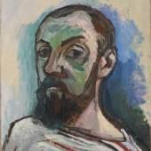 Henri Matisse (1869–1954) Selbstporträt, 1906 Öl auf Leinwand, 55 x 46 cm Statens Museum for Kunst, Kopenhagen © Succession H. Matisse / VG Bild-Kunst, Bonn 2017 / Foto: SMK