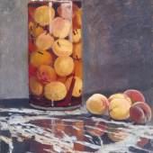 Claude Monet (1840-1926) Pfirsichglas, ca. 1866 Öl auf Leinwand 55,5 x 46 cm Galerie Neue Meister, Staatliche Kunstsammlungen Dresden © Galerie Neue Meister, Staatliche Kunstsammlungen Dresden