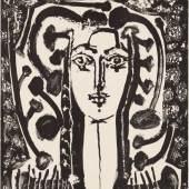 Abbildung: Pablo Picasso, Buste Modern Style (Jugendstil-Büste), 1949, Städel Museum, Frankfurt am Main, Graphische Sammlung, Foto: Städel Museum, © VG Bild-Kunst, Bonn 2019