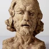 Auguste Rodin (1840–1917) Das Haupt Johannes des Täufers, 1877/78 Terrakotta, 30,5 × 23,7 × 21,1 cm Staatliche Kunsthalle Karlsruhe
