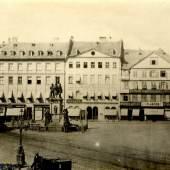 Historische Ansicht der Westseite des Roßmarkts, um 1870 © Deutsche Bank AG, Historisches Institut, Frankfurt am Main
