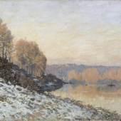 Alfred Sisley (1839–1899) Die Seine in Bougival im Winter, 1872 Öl auf Leinwand, 46 x 65 cm Palais des Beaux Art de Lille Foto: bpk | RMN - Grand Palais | René-Gabriel Ojéda