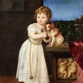 TIZIAN (UM 1488/90–1576) Bildnis der Clarice Strozzi, 1542 Öl auf Leinwand, 121,7 x 104,6 cm Berlin, Staatliche Museen, Gemäldegalerie © bpk / Gemäldegalerie, SMB / Christoph Schmidt
