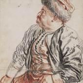 Antoine Watteau (1684-1721), Sitzender Perser, 1715