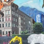 Starchaser (Detail), Hugo Stuber, 2015  Acrylic, spray, stencil, pencil, enamel and marker on canvas, 170 x 200 cm