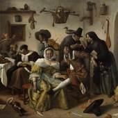 Bartolomeo Passerotti, Die verrückten Liebenden Öl auf Leinwand, 114 x 118 cm Privatbesitz, Paris