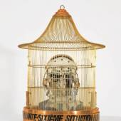 Curt Stenvert  Die sechsundvierzigste menschliche Situation: Meine (Situation) d.h. die des Curt Stenvert (Opus 247), 1966  Assemblage  74 x 55 cm (Durchmesser)  Kunsthalle Mannheim  © VBK Wien, 2011, Foto: Cem Yücetas