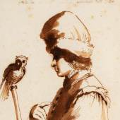 Stephen Ongpin Fine Art A Young Man with an Owl on a stick Giovanni Francesco Barbieri-crop