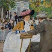 Max Stern (1872 – 1943), Kaffeegarten auf dem Ananasberg im Hofgarten, 1910, Öl auf Leinwand, 101 x 135 cm, Privatsammlung, Foto: Horst Kolberg, Düsseldorf