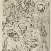 Max Beckmann Die Granate, 1915 Radierung 38,8 x 28,9 cm Sprengel Museum Hannover © VG Bild-Kunst, Bonn 2014 Foto: Michael Herling / Aline Gwose / Benedikt Werner,