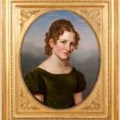 Josef Stieler, Porträt eines jungen Mädchens, um 1820, Öl auf Leinwand in Originalrahmen, 76 x 54 cm. Foto: Schlapka KG