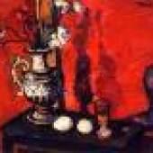 Am Anfang des malerischen Oeuvres von Herbert Bockel steht ein Meisterwerk. Es kommt von einem 26jährigen Autodidakten, der gerade vier Jahre Kriegsdienst abgeleistet, und zierlich teilweise hineinverwoben, seit 1912 erfolgreich ein Architekurstudium in Wien absolviert hat.