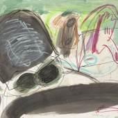 Walter Störer Ohne Titel, 1964 Gouache, farbige Kreide, Bleistift, Feder und Filzstift auf Velin 54,8 x 75,4