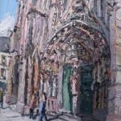 Christopher Lehmpfuhl, Straßburger Münster, 2005, Öl auf Lein- wand, 100 x 80 cm