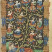 Horae B.M.V. Lateinisch-französisches Stundenbuch für den Gebrauch von Rouen, um 1480  Schätzung: € 65.000
