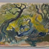 Urwald  (237 KB) aus Der Sturm von William Shakespeare Oskar Laske, 192 © Österreichisches Theatermuseum