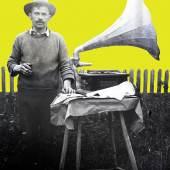 Franz Fauth, Mann mit Grammophon, St. Peter im Sulmtal, undatiert, (Multimediale Sammlungen /UMJ)