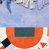 Sujet,  Oben: Ilya & Emilia Kabakov, Landscape with Mountains, 1989 (Detail), Courtesy: Niccoló Sprovieri Gallery, London; Foto: © Ilya & Emilia Kabakov, ©Bildrecht, Wien 2014; Unten: El Lissitzky, Proun, ca.1922-1923 (Detail), Sammlung Van Abbemuseum, Foto: Peter Cox