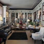 Lucien Lévy-Dhurmer's Paysage Montagneux (estimate $150,000 - $250,000), pictured in Ricahrdson's Fifth Avenue loft. Photograph by François Halard.