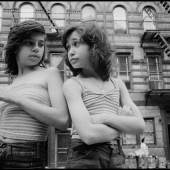 Susan Meiselas, Dee and Lisa on Mott Street. Little Italy, New York City, USA, 1976