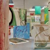 Vivian Suter, Tintin's Sofa, Ausstellungsansicht Camden Art Center, London, 2020