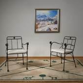 Lot 65 - Diego Giacometti - Pair of Fauteuil à têtes de Lionnes armchairs