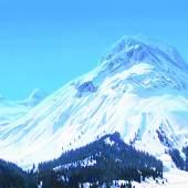 Helmut Ditsch (geb. 1962 Buenos Aires) Am Arlberg Öl auf Leinwand signiert, verso bezeichnet und datiert 2015 44 x 100 cm   Zur Verfügung gestellt von: Galerie Szaal