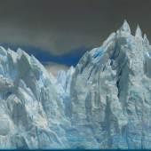 """Helmut Ditsch, geb. 1962 """"Also sprach Zarathustra 2 – Perito Moreno Gletscher"""", Öl auf Leinwand, signiert, verso bezeichnet und datiert 2017,  86 x 200 cm  Fotos: ©Artfactory GmbH Galerie Szaal"""