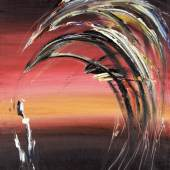"Soshana (geb. 1927 Wien) ""Twilight I."" Öl auf Leinwand signiert, 1964, 92 x 65 cm"