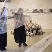 """Blick in die Ausstellung """"Tanja Prušnik. 2020.1920 Erinnerungsschleife / po poteh spominov"""", Pavelhaus / Pavlova hiša Pavelhaus / Pavlova hiša, Foto © David Kranzelbinder"""