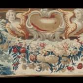 17th century tapestry fragment, Brussels, £4,000 from Galerie Arabesque