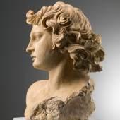 Carlo Orsi-Trinity Fine Art Antonio Giorgetti (doc. Rome from 1657-1669) Head of an Angel Terracotta height 39 cm