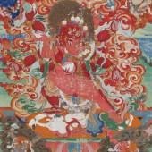 Thangka Sadbhuja Mahakala Tibet | 19. Jh | 68cm x 42,5cm  Ergebnis: 25.600€