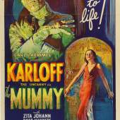 An Artifact of Hollywood's Golden Age of Horror One of Only Three Copies Known to Survive Of the Original Lithographic Film Poster for The 1932 Classic The Mummy   ESTIMATE $1/1.5 MILLION