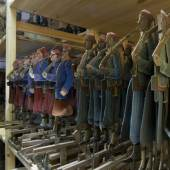 """Das Theatrum mundi (mechanisches Welttheater), Figuren aus der Szene """"Die Schlacht bei Sedan 1870"""", Theater Richard Bonesky, Sachsen, um 1890 © Puppentheatersammlung, SKD, Foto Frank Höhler"""