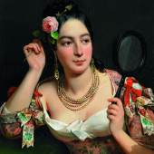 Théodore Chasseriau (1819 - 1856) Porträt der Alice Ozy Öl auf Leinwand | 73,5 x 59,5cm  Taxe: 60.000 - 80.000 Euro