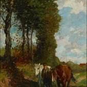 Thomas Herbst, Auf dem Heimweg, um 1900, Öl auf Leinwand, Seibt Collection, Foto Eike Knopf